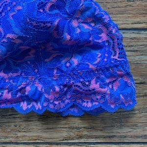 PINK Victoria's Secret Intimates & Sleepwear - Victoria Secret PINK - Blue and Pink Lace Bra